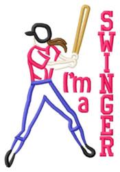 Swinger Girl embroidery design