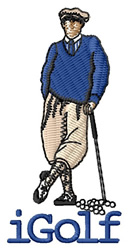 iGolf (Male) embroidery design