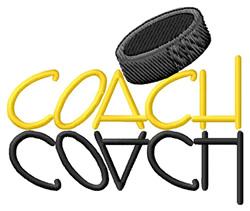 Hockey Coach embroidery design
