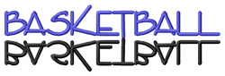 Basketball Text embroidery design