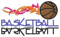 Basketball Flame embroidery design