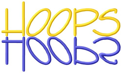 Hoops Text embroidery design