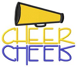Cheer Text with Megaphone embroidery design