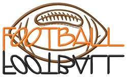 Football Text with Ball embroidery design