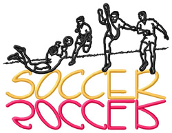Soccer Collage embroidery design