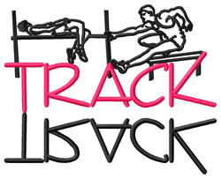 Track Collage embroidery design