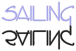 Sailing Text embroidery design