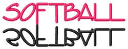 Softball Text embroidery design