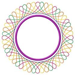 Circular Spirograph embroidery design