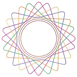 Retro Spirograph embroidery design