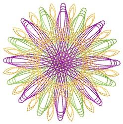 Retro Spirograph embroidery design