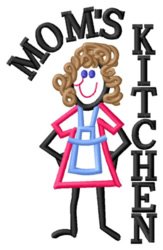 Moms Kitchen embroidery design