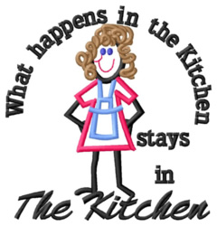 In the Kitchen embroidery design
