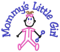 Mommys Litte Girl embroidery design