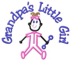 Grandpas Little Girl embroidery design