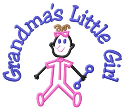 Grandmas Little Girl embroidery design