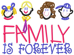 Family is Forever embroidery design