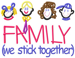 We Stick Together embroidery design