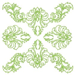 Ornate Floral Quilting embroidery design