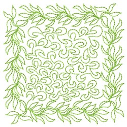 Leaf Square Quilting embroidery design