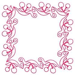 Square Cherry Border embroidery design
