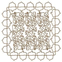 Acorns Framed Oak Leaves embroidery design