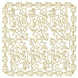 Oak Leaves Quilting embroidery design