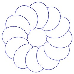 Circled Circles Quilt embroidery design