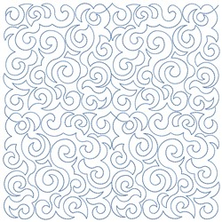 Curvy Quilt Block Pattern embroidery design
