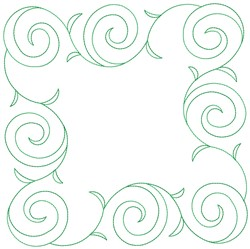 Floral Frame Quilt Block embroidery design