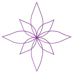 Floral Star Quilt embroidery design
