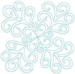 Swirls Quilt Block embroidery design