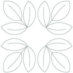 Leaf Square embroidery design