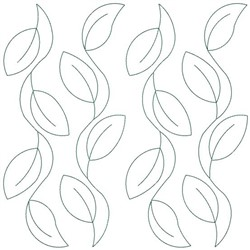 Running Leaves embroidery design