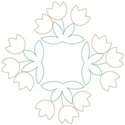Tulip Square embroidery design