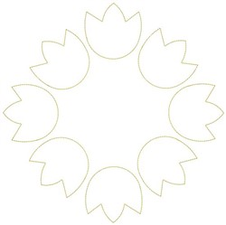 Tulip Circle embroidery design