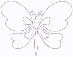 Butterfly Outline embroidery design