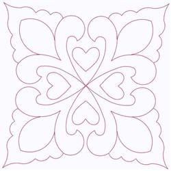 Fleur Square embroidery design