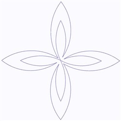 Point Swirl embroidery design