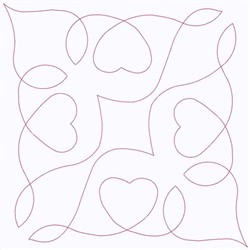 Heart Square embroidery design