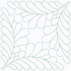Leaf Square embroidery design