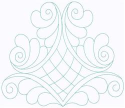 Swirly Scrollwork embroidery design