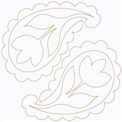 Paisley Tulip Pair embroidery design