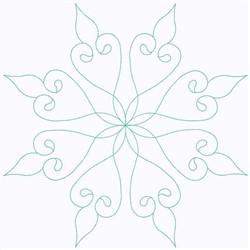 Pinwheel embroidery design