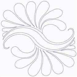 Splash Outline embroidery design