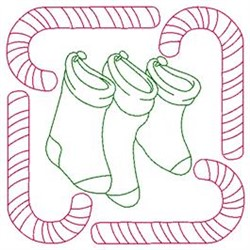Stockings embroidery design