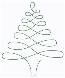 Abstract Christmas Tree embroidery design