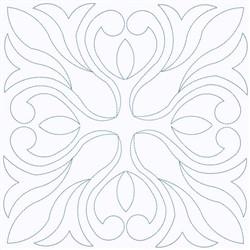 Leaf Square Outline embroidery design