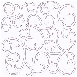 Curlicue Square embroidery design
