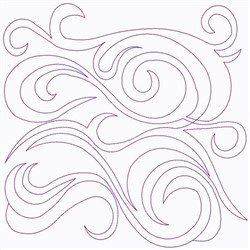 Curlicues embroidery design